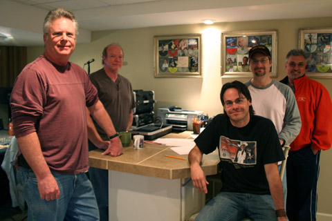 Some of the crew during a Travis Cooper CD project.